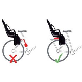 Hamax Siesta Barnesæde til cykel Bagagebærer, grey/red
